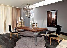 Tavolo da pranzo rettangolare in radica Tavolo in legno Collezione Sidney by Bizzotto   design Tiziano Bizzotto