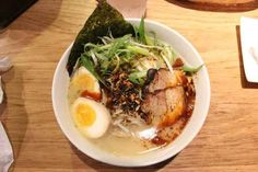 Spicy Ramen with Boiled Egg at Totto Ramen
