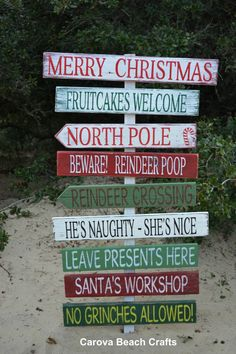 Holiday Decor Custom Christmas Outdoor Decor Yard Holiday Signs Christmas Home…