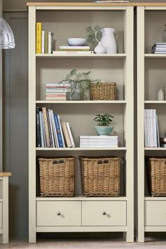 Cream Malvern Tall Shelf Unit