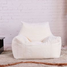 ff866ad6e5e9 Fluffy Bean Bag Chairs for Adults Kids Sofa Couch Cover Plush Armchair  Lounger