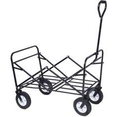 New Heavy Duty Folding Garden Trolley Cart Wagon 4 Wheel Pull Along Wheelbarrow  | Wheelbarrows & Carts | Garden Hand Tools & Equipment - Zeppy.io