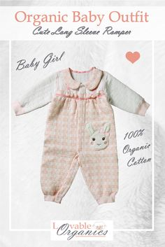 Cute Baby Girl Romper to keep your little one warm and cozy. Made with safe and pure Organic Naturally Colored Cotton. Baby Girl Romper, Cute Baby Girl, Cute Babies, Rompers For Kids, Baby Girl Winter, Organic Baby Clothes, Long Sleeve Romper, Warm And Cozy, Organic Cotton