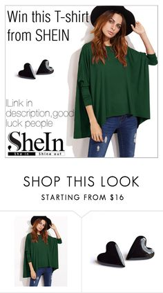 """""""Win this T-shirt from SHEIN"""" by maiah-bee ❤ liked on Polyvore"""