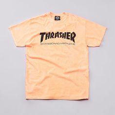 Flatspot - Thrasher Skate Mag T Shirt Neon Orange Thrasher Skate, Thrasher Shirts, Nike Shirts Women, Neon Shirts, Teenage Girl Outfits, Shirt Outfit, T Shirt, Orange Shirt, Jasmine Marie