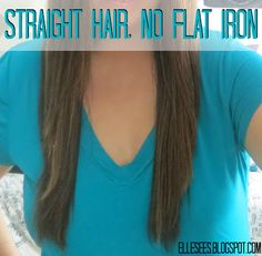 How To: Straighten Hair Without a Flat Iron
