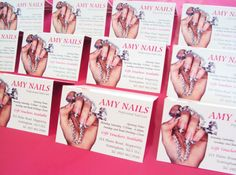 Appointment cards for Amy Nails. Designed and printed by Minuteman Press, Nottingham