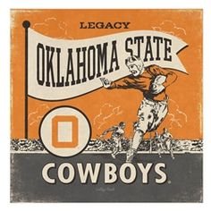 Vintage Oklahoma State Cowboys Football Canvas