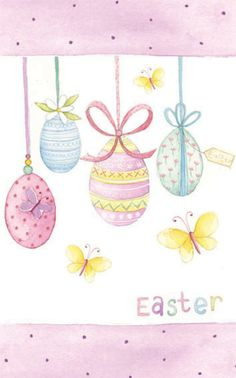 Sophie Hanton - eggs and polka Easter Messages, Easter Wishes, Easter Greeting Cards, Happy Easter Pictures Inspiration, Easter Drawings, Easter Paintings, Easter Illustration, Easter Wallpaper, Easter Peeps