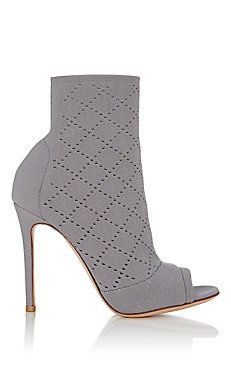 Perforated Knit Ankle Booties