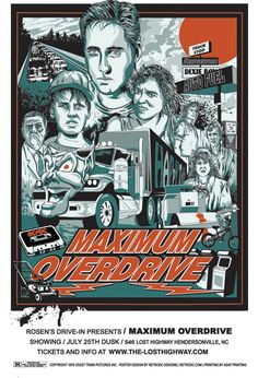 Maximum Overdrive Poster - illustrated by artist Steve Jencks
