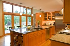 wood and windows. Northwest Contemporary Kitchen - contemporary - kitchen - seattle - Paul Moon Design