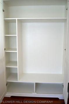 Built-in Closet plan for nursery