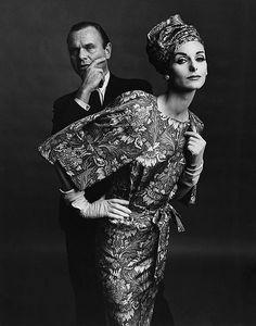 Designer Bill Blass and Anne St. Marie