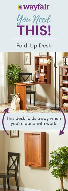 You Need This! Sign up for access to exclusive sales, all at up to 70% OFF! Work hard and store smart with this folding desk. Shop the best prices on more multi-functional furniture that does double. Plus, enjoy FREE shipping on all orders over $49 at Wayfair!