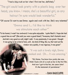 Daniel Radcliffe about Emma Watson gif