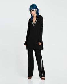 ZARA - WOMAN - TROUSERS WITH CONTRASTING PIPING