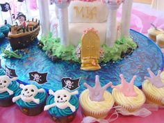 Cupcakes to go with Princess and Pirate themed party