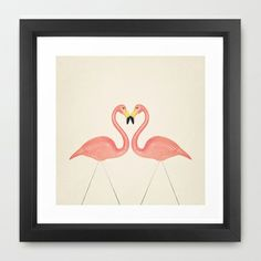Flamingo Love  Framed Art Print