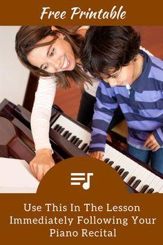 "Reflect On Piano Recital Performances With This Fun ""Mad Lib"" Printable Preschool Music, Music Activities, Music Ed, Piano Music, Music Notes, Piano Lessons, Music Lessons, Piano Games, Piano Classes"