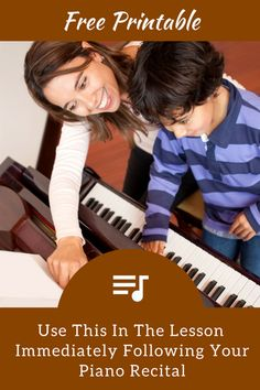 "Reflect On Piano Recital Performances With This Fun ""Mad Lib"" Printable 