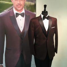 Burgundy Ike Behar trim fit tuxedo Tuxedo, Burgundy, Suit Jacket, Suits, Dracula, Formal, My Style, Jackets, Decoration