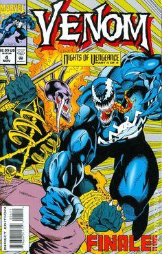 Venom Nights of Vengeance (NM) 1994 Marvel Comics / Spider-Man Ghost Rider Venom Comics, Marvel Venom, Marvel Comics, Venom Spiderman, Marvel Villains, Marvel Comic Books, Comic Books Art, Book Art, Comics Vintage