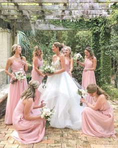shades of pink for a wedding,pink bridesmaid dresses,blush pink color dress,blush pink dress, Long Bridesmaid Dresses Light Pink Bridesmaid Dresses, Blush Pink Dresses, Wedding Bridesmaids, Pink Colour Dress, Pink And Gold Wedding, Wedding Photoshoot, Wedding Photography, Photography Ideas, Wedding Ideas