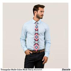 Triangular Multi-Color Neck Tie