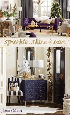 Get a luxe look this holiday season! Shop finds that add some sparkle to your home, for a low price. Sign up now at jossandmain.com!