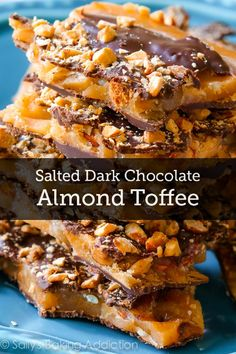 Get ready – this is the best DIY candy recipe ever! Make some delicious Salted Dark Chocolate Almond Toffee for a holiday gift for your friends – they'll definitely feel loved!