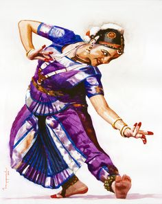 Buy Classical Dancer 05 Painting at Lowest Price by Jeyaprakash M Indian Art Paintings, Modern Art Paintings, Realistic Paintings, Dancing Drawings, 3d Drawings, Watercolor Portrait Painting, Indian Classical Dance, Africa Art, India Art