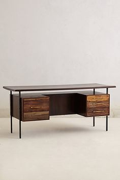 Handcrafted Coalie Desk #anthropologie  #anthrofave