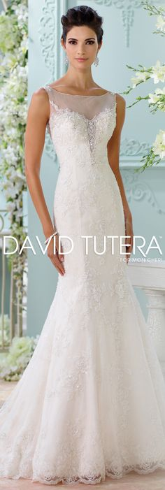 The David Tutera for Mon Cheri Spring 2016 Wedding Gown Collection - Style No. 116206 Marigold #laceweddingdresses #coupon code nicesup123 gets 25% off at  www.Provestra.com www.Skinception.com and www.leadingedgehealth.com