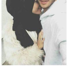 love, muslim, and hijab image