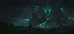 Dark Mountain, kalen chock on ArtStation at http://www.artstation.com/artwork/dark-mountain-62cecb1e-11ab-4b86-bcee-26d757850b5c