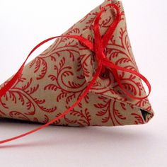 Red Vines Reusable Fabric Gift Pouch ($6) - An ibhandmade guild member on ArtFire.