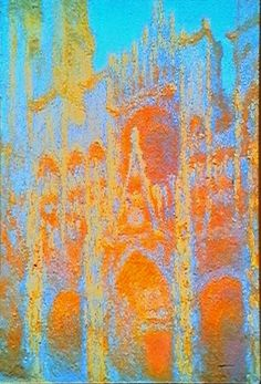 Claude Monet~ Rouen Cathedral, just one of a beautiful series from morning till night.