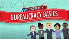 """Types of Bureaucracies: Crash Course Government and Politics by thecrashcourse: """"This week Craig Benzine discuses bureaucracies. Bureaucracies tend to be associated with unintelligible rules and. Law And Justice, Executive Branch, Homeschool High School, The Daily Show, Us Politics, Dramatic Play, Us History, State Government, Criminal Justice"""
