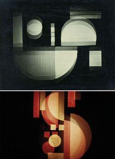 kurt-Schwerdtfeger-games-of-light-coloree Bauhaus, Animation, Film, Games, Colors, Music, Contemporary Art, Painted Canvas, Color