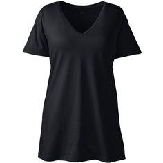 0114815ca303e Lands  End Women s Plus Size Supima Cotton Short Sleeve V-neck Tunic.