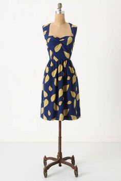 Anthropologie dress. Like the vintage look of this cut and pattern. And it has pockets @Piper!