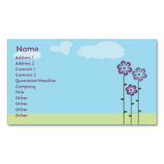 Three Flowers - Business Business Cards. I love this design! It is available for customization or ready to buy as is. All you need is to add your business info to this template then place the order. It will ship within 24 hours. Just click the image to make your own!