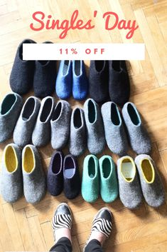 cfc52d06bf677 Woolen slippers, Felt shoes, Wool boots Handmade to Fit by FeltWoolSlippers