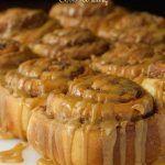 Easy Cinnamon Rolls with Caramel Icing -