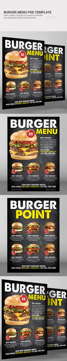 Best Burger Menu Template PSD Download Here Graphicriver