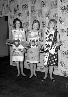 Dresses featuring The Beatles' faces, 1964