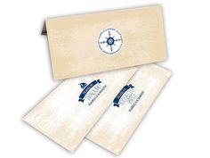 Hochzeitskarten - Tickets zur Hochzeit - Kompass der Liebe - maritime Hochzeitseinladungen