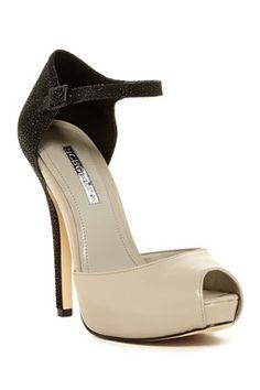 Lin Peep Toe Ankle Strap Pump