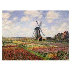 Tulip Fields with Rijnsburg Windmill 1886 Canvas Art by Claude Monet - BL0285-C1824GG